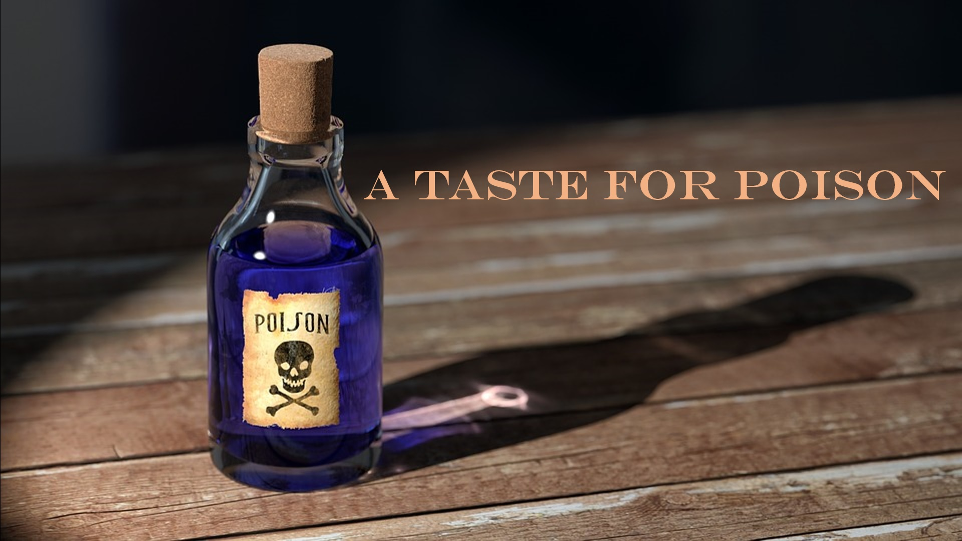 A bottle of poison